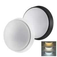 Solight LED venkovní osvětlení s nastavitelnou CCT, 18W, 1350lm, 22cm, 2v1 - bílý a černý kryt