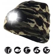čepice CAP06 s LED světlem maskovací