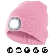 čepice CAP11 s LED světlem růžová