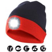 čepice CAP15 s LED světlem červeno-černá