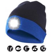 čepice CAP16 s LED světlem modro-černá