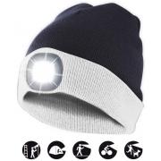 čepice CAP17 s LED světlem bílo-černá
