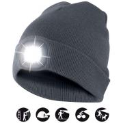 čepice CAP02 s LED světlem tmavě šedá