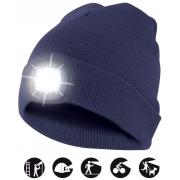 čepice CAP04 s LED světlem modrá