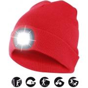 čepice CAP08 s LED světlem červená