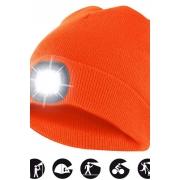 čepice CAP10 s LED světlem oranžová