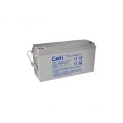 Baterie gelová 12V 150Ah Geti pro soláry