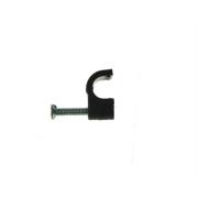 Kabelová příchytka, úchyt kabelu 5 mm KN-5 černá, 100 ks