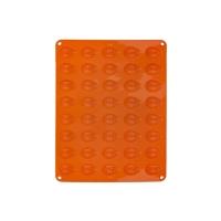 Forma na pečení ORION Ořechy 40 silikon oranžová
