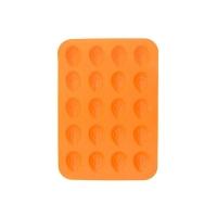 Forma na pečení ORION Ořechy 20 silikon oranžová