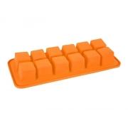 Forma na led ORION Kostky silikon oranžová