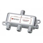 Rozbočovač OPTICUM 3xF HQ 5-2400 MHz, průchozí všemi směry