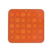 Forma na pečení ORION Kytičky 30 silikon oranžová
