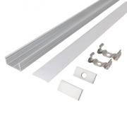 Solight hliníkový profil pro LED pásky 2, 18x9mm, mléčný difuzor, 1m