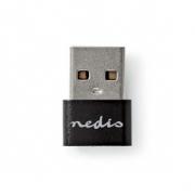 adaptér USB | USB 2.0 | USB Typ-A | USB Typ-C ™ Zásuvka | Poniklované | Přímý | Kov | Černá | Obálka