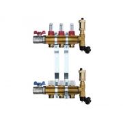 Mosazný rozdělovač s automatickým odvzdušněním - 3 cestný