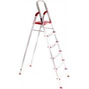 Schůdky hliníkové skládací ALU STEPS 6, 6 stupňů, nejvyšší schůdek 130 cm, nosnost 120 kg SIXTOL