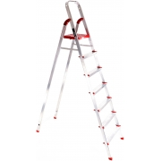 Schůdky hliníkové skládací ALU STEPS 7, 7 stupňů, nejvyšší schůdek 153 cm, nosnost 120 kg SIXTOL