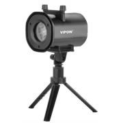 Laserový dekorativní projektor s výměnnými vzory 4v1 VIPOW ZAR0442, IP44