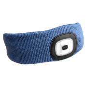 Čelenka s čelovkou 180lm, nabíjecí, USB, univerzální velikost, modrá SIXTOL
