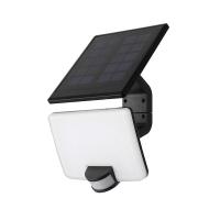 Solight LED solární osvětlení se senzorem, 11W, 1200lm, Li-on, černá