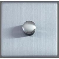 Luxusní Govena tlačítkový otočný stmívač 400W, s mikroprocesorem , broušená ocel