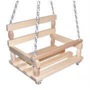 Houpačka dřevěná 38 x 30 cm přirodní