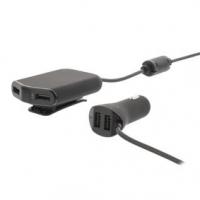 Nabíječka Do Auta 4-Výstupy 9.6 A USB Černá