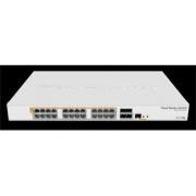 MikroTik Cloud Router Switch CRS328-24P-4S+RM, 800MHz CPU, 512MB, 24xGLAN, 4xSFP+cage, ROS L5, PSU,1U Rackmount