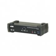 2-Port KVM Přepínač USB 3.0 4K DisplayPort MST Černá