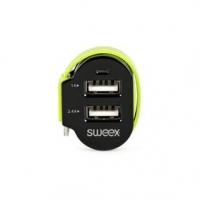 Nabíječka Do Auta 3-Výstupy 6 A 2x USB / Micro USB Černá/Zelená
