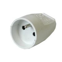 Solight zásuvka přímá, IP20, bílá