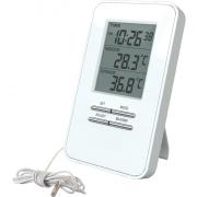 Solight teploměr, teplota, velký displej, datum, čas, bílý