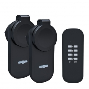 Solight dálkově ovládané venkovní zásuvky set 2 + 1, 2 zásuvky, 1 ovladač, learning code
