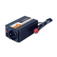 Solight invertor 12V, USB 500mA, kovový, černý, max. zatížení: 200W