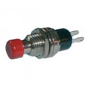 Přepínač tlačítko kul.    OFF-(ON) malý červený (12V)