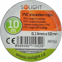 Solight izolační páska, 50mm x 0,13mm x 10m, černá