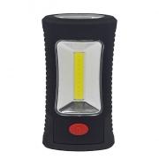 Solight LED svítilna pracovní, 3W COB + 3 SMD LED, hák + magnet, 3 x AAA