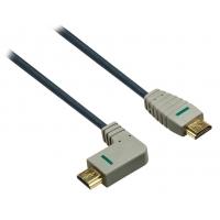 Bandridge HDMI digitální kabel s Ethernetem, pravý úhlový konektor, 2m, BVL1412