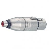 Adaptér XLR XLR 3kolíkový Zásuvka - CINCH Zásuvka Stříbrná