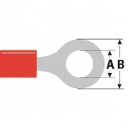 Konektor Fast On 3.2 mm Zásuvka PVC Červená