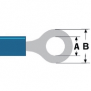 Konektor Fast On 4.3 mm Zásuvka PVC Modrá