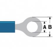 Konektor Fast On 6.4 mm Zásuvka PVC Modrá