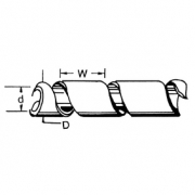 Kabelové Bužírky 65 mm 10.0 m Transparentní