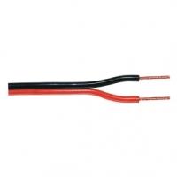 Kabel Reproduktoru na Cívce 2x 0.35 mm² 100 m Černá/Červená