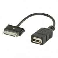 Synchronizační a Nabíjecí Kabel Samsung 30kolíkový Zástrčka - USB A Zásuvka 0.20 m Černá