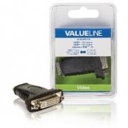Adaptérem High Speed HDMI s Ethernetem HDMI Zásuvka - DVI-D 24+1p Zásuvka Černá