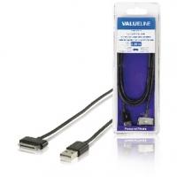 Synchronizační a Nabíjecí Kabel Apple Dock 30kolíkový - USB A Zástrčka 2.00 m Černá