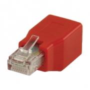 Síťový Adaptér CAT6 RJ45 (8P8C) Zástrčka - RJ45 (8P8C) Zásuvka Červená