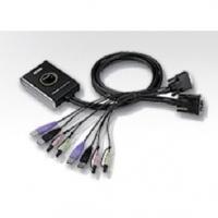 2-Port KVM Switch Černá